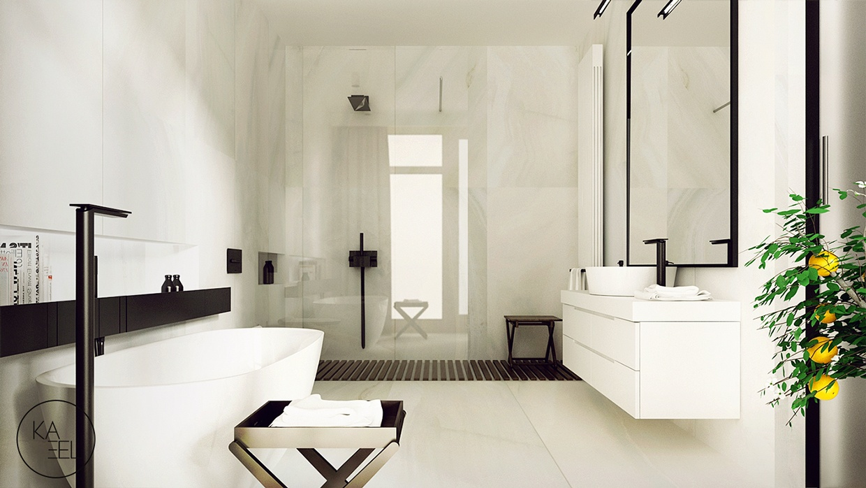 white-marble-bathroom | interior design ideas.