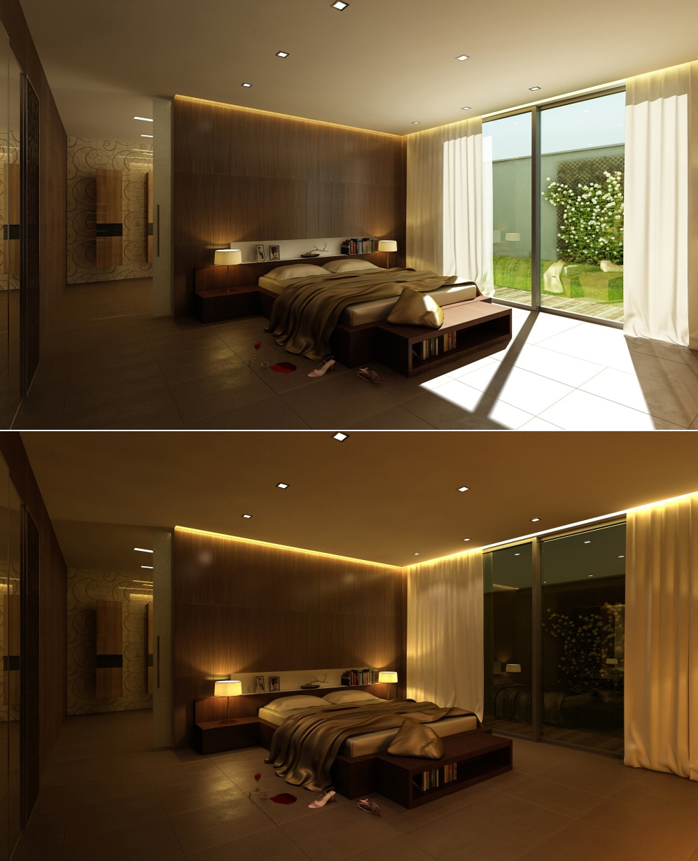 Stylish bedroom designs with beautiful creative details for Wooden interior design for bedroom