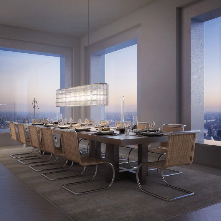 Apartment Dining Room Design - 432 park avenue the tallest residential building in the western hemisphere