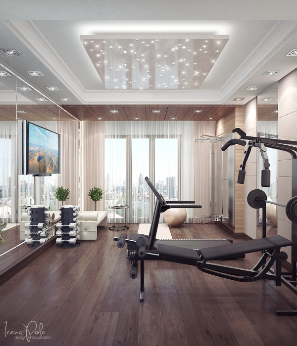 A home gym ensures residents don't have to deal with the unwashed masses as the local YMCA. If they have those in the Ukraine.