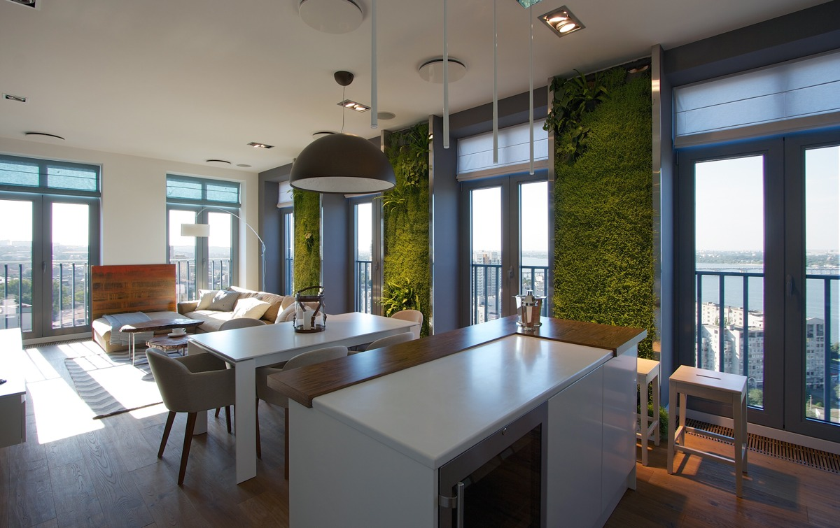 Vertical Kitchen Garden Vertical Garden Walls Add Life To Apartment Interior