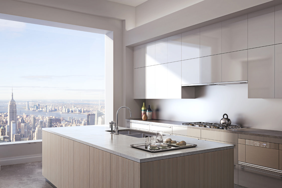 Apartment Kitchen Island - 432 park avenue the tallest residential building in the western hemisphere