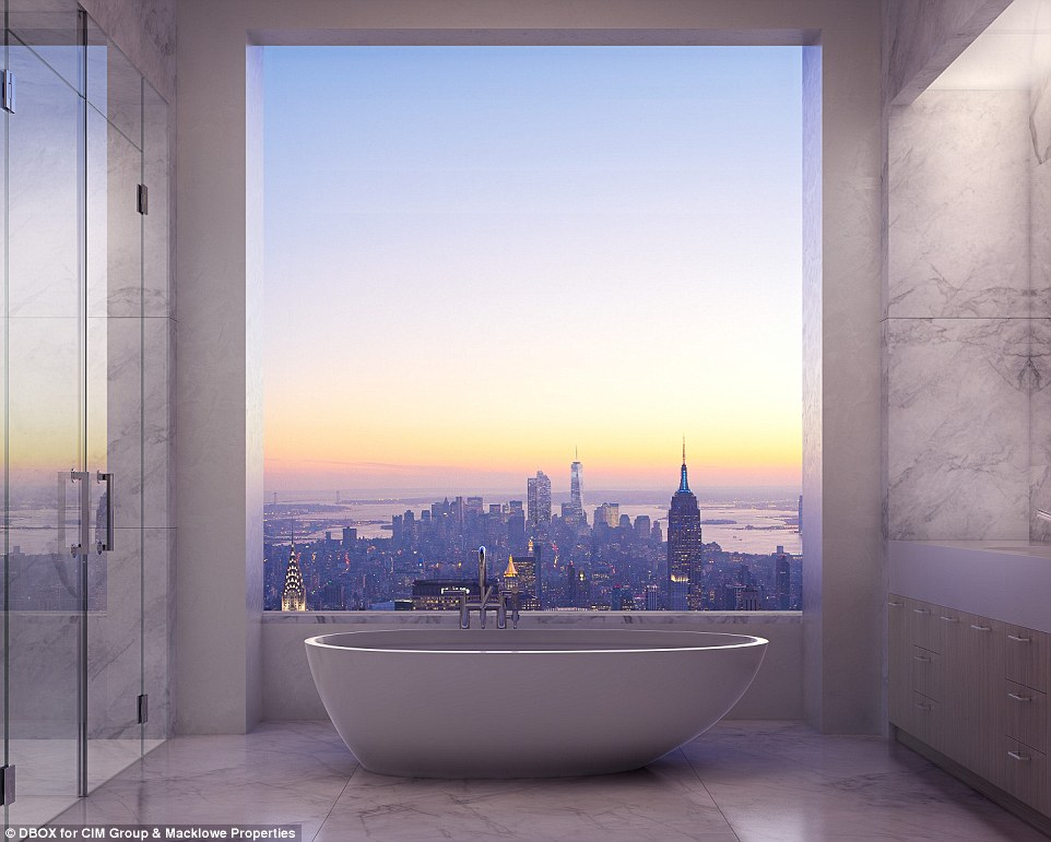 Bathroom With A View - 432 park avenue the tallest residential building in the western hemisphere