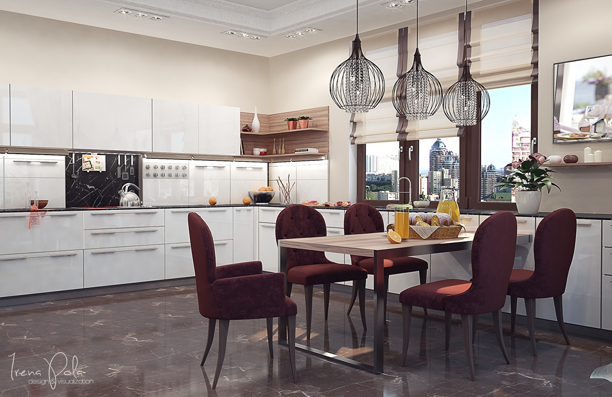 Beautiful Breakfast Table - Super luxurious apartment in kiev ukraine
