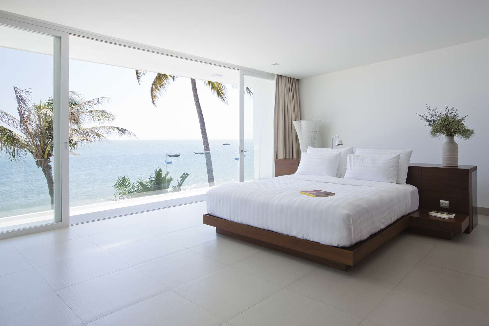 Private beach villas offer spectacular ocean views and for Best windows in the world