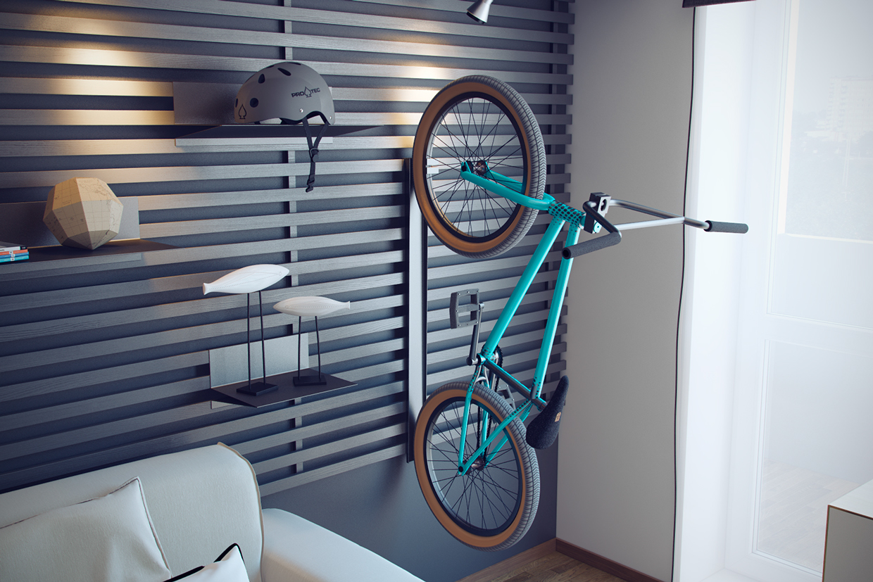 Bike Storage - Creative bedrooms that any teenager will love