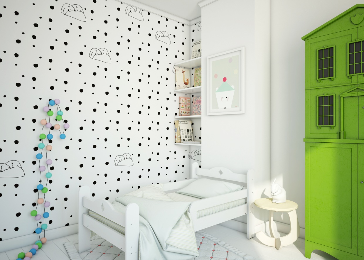 Black And White Room - Cute kids rooms by fajno design