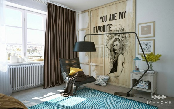 These artsy elements can work because of the neutral color palette that keeps the room from feeling busy or cluttered.