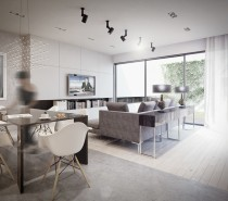 The first Warsaw apartment is 180 square meters (1900 square feet) and was designed in 2012.