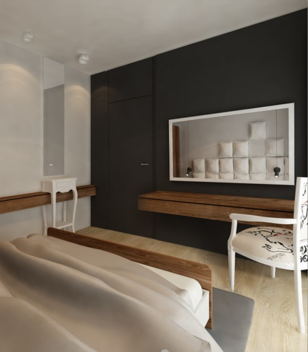 In the bedroom, interesting textures make the space feel more vibrant.