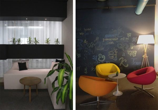 The use of cozy nooks makes collaboration more comfortable so that ideas can flow.