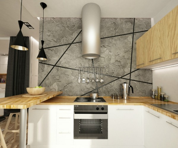With a stone wall and modern appliances, the kitchen is simply spectacular.