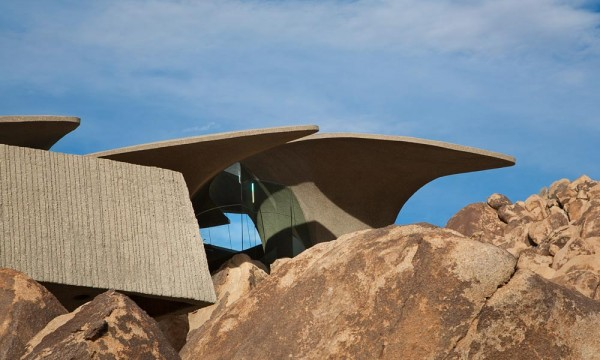 The home is located in Joshua Tree, California, a tiny area just outside of the national park.
