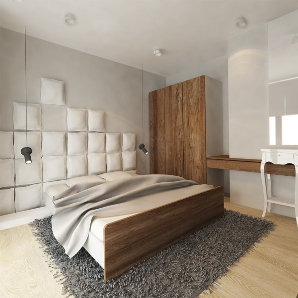 For instance, the deconstructed headboard design is creative but because it matches the color of the wall, it is not too busy.