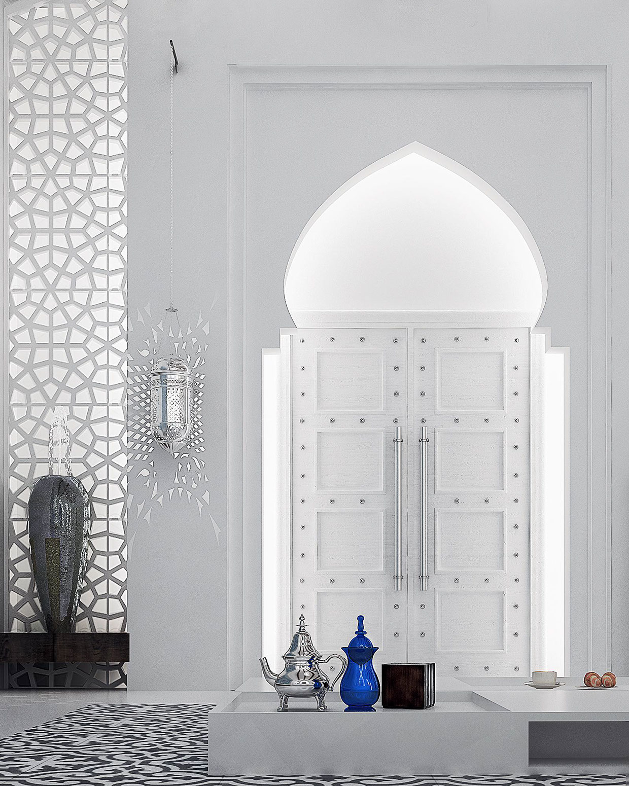 Moroccan style interior design for Architecture arabe