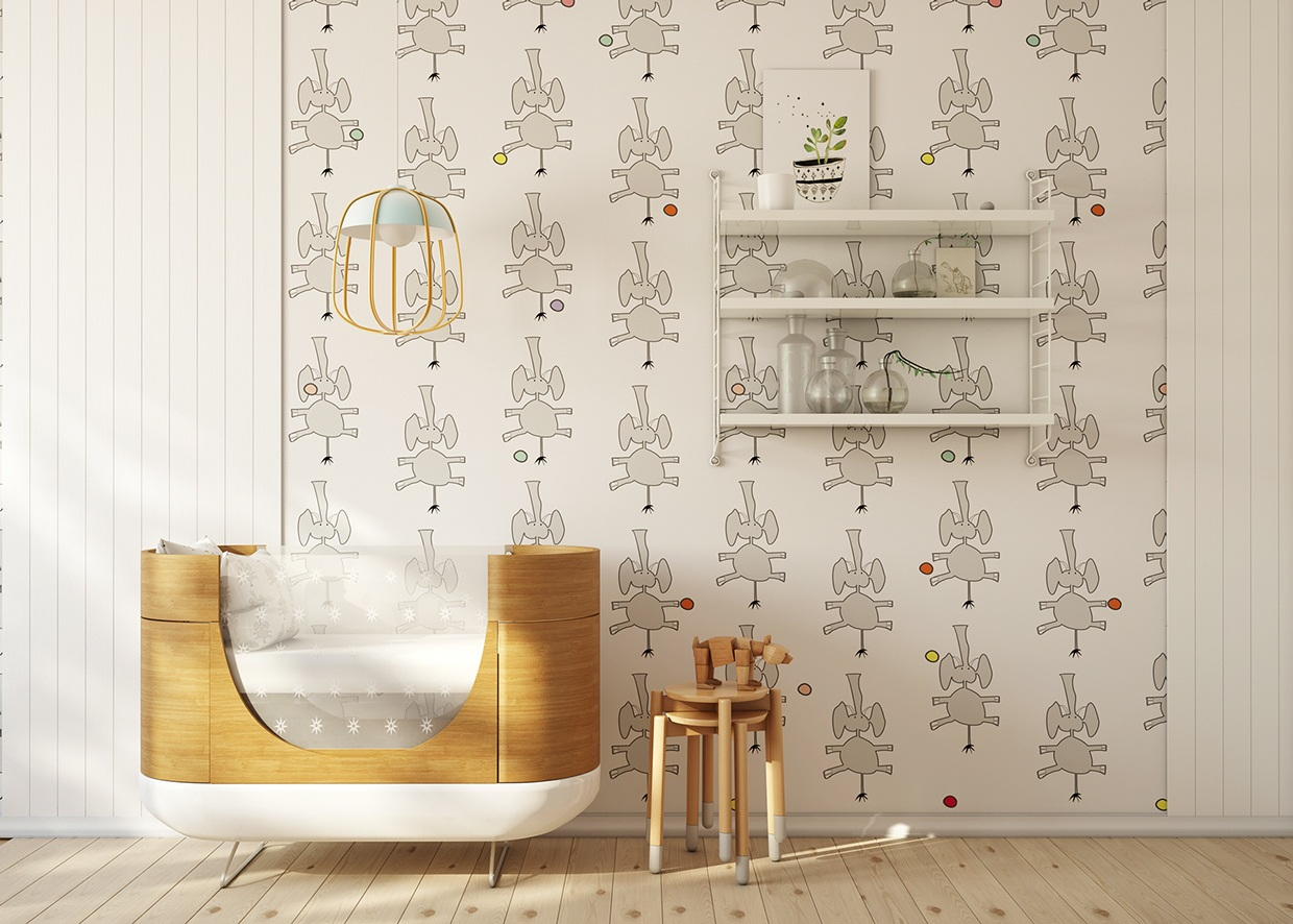 Wallpaper For Rooms Cute Kids Roomsfajno Design