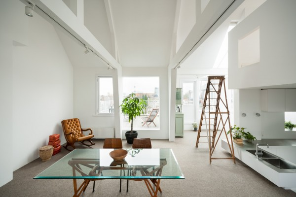 The open and airy living space on the main floor is kid friendly, yet sophisticated.