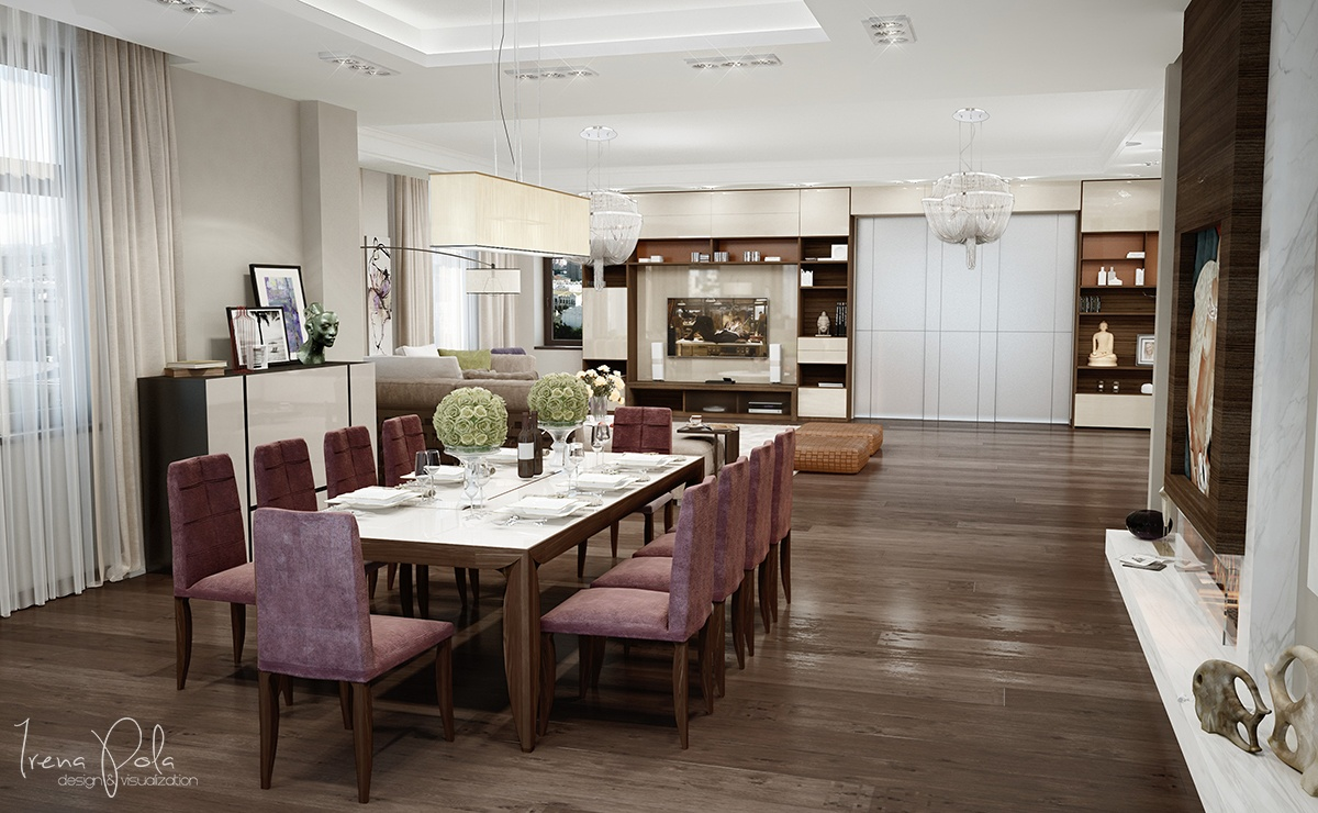 Formal Apartment Dining Room - Super luxurious apartment in kiev ukraine
