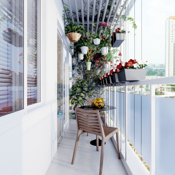 The terrace is a lovely final touch with plenty of plants creating a sort of urban oasis.