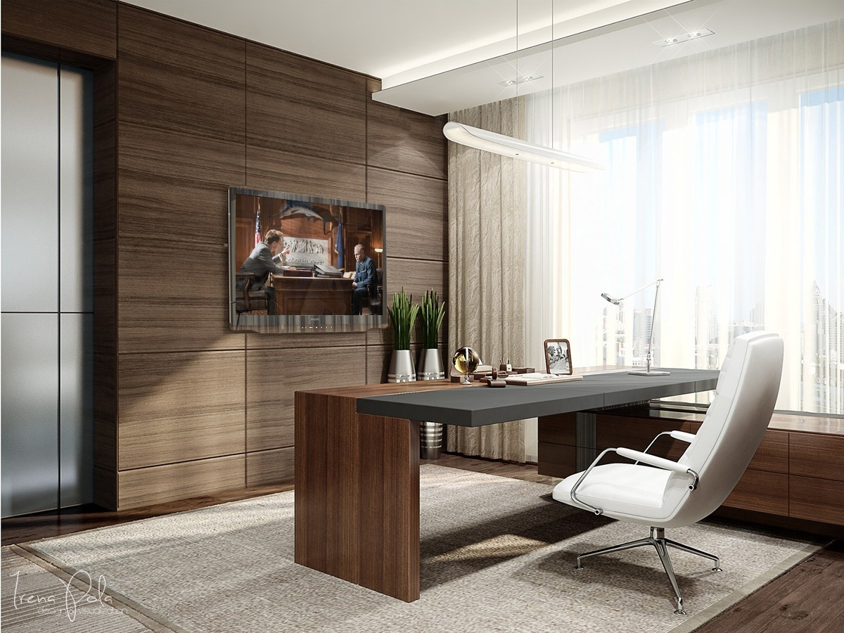 Super luxurious apartment in kiev ukraine for Home office designs ideas