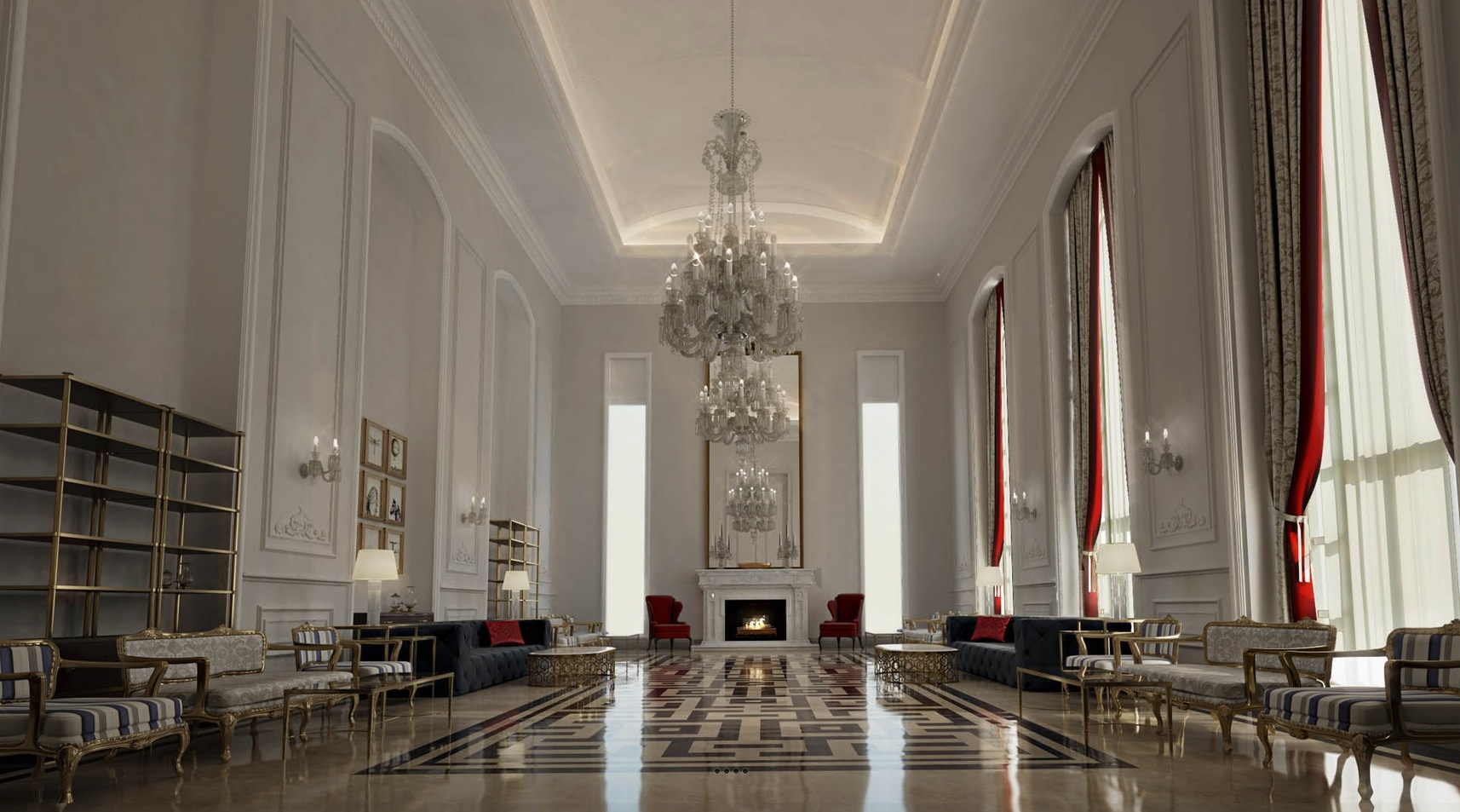 Moroccan style interior design for House holl design