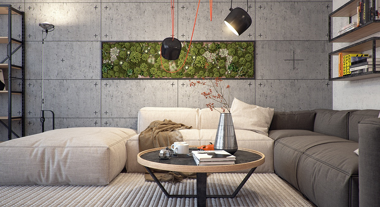 5 kiev apartments with verdant vertical gardens and other for Indoor nature design challenge
