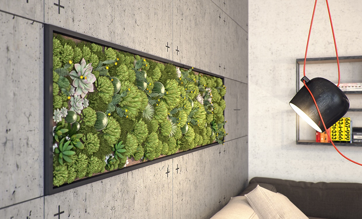 5 kiev apartments with verdant vertical gardens and other for Indoor garden design
