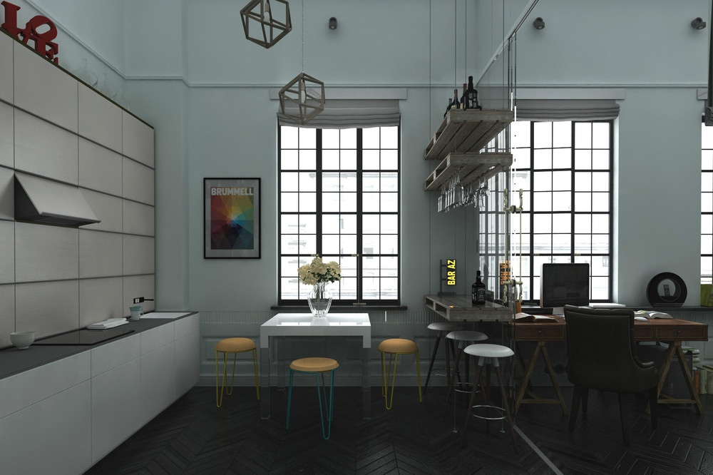 Industrial loft design interior design ideas for Industrial design house plans