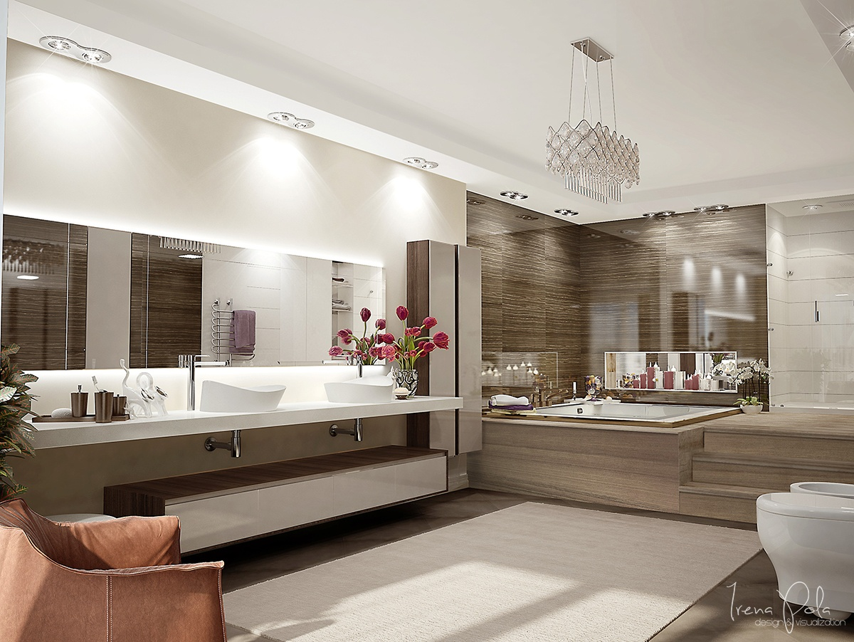 Large Bath Design - Super luxurious apartment in kiev ukraine