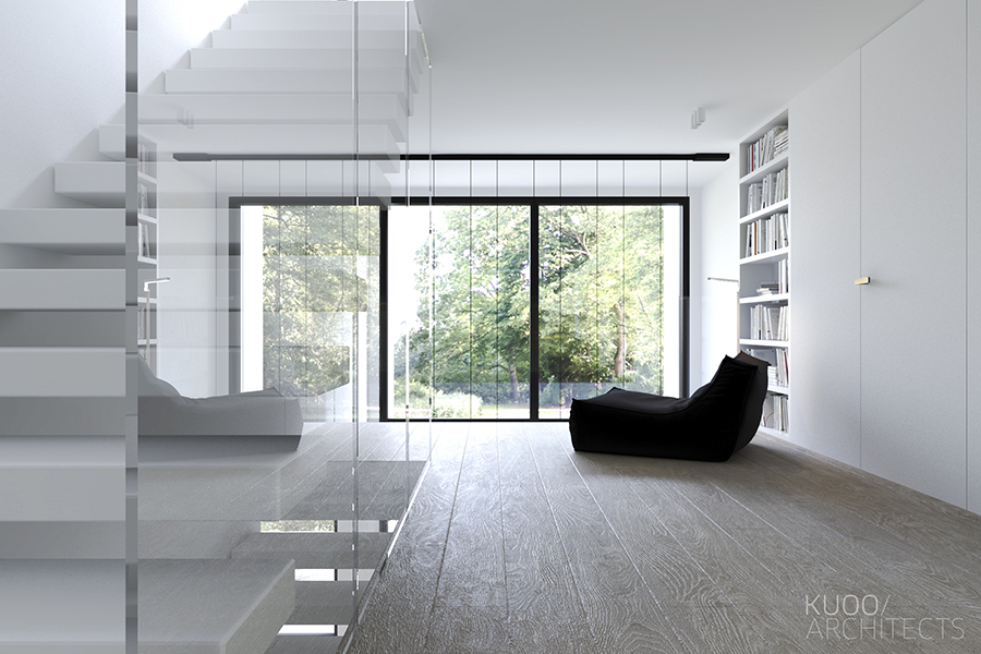 Lucite Staircase - Sleek and simple luxury in luxembourg
