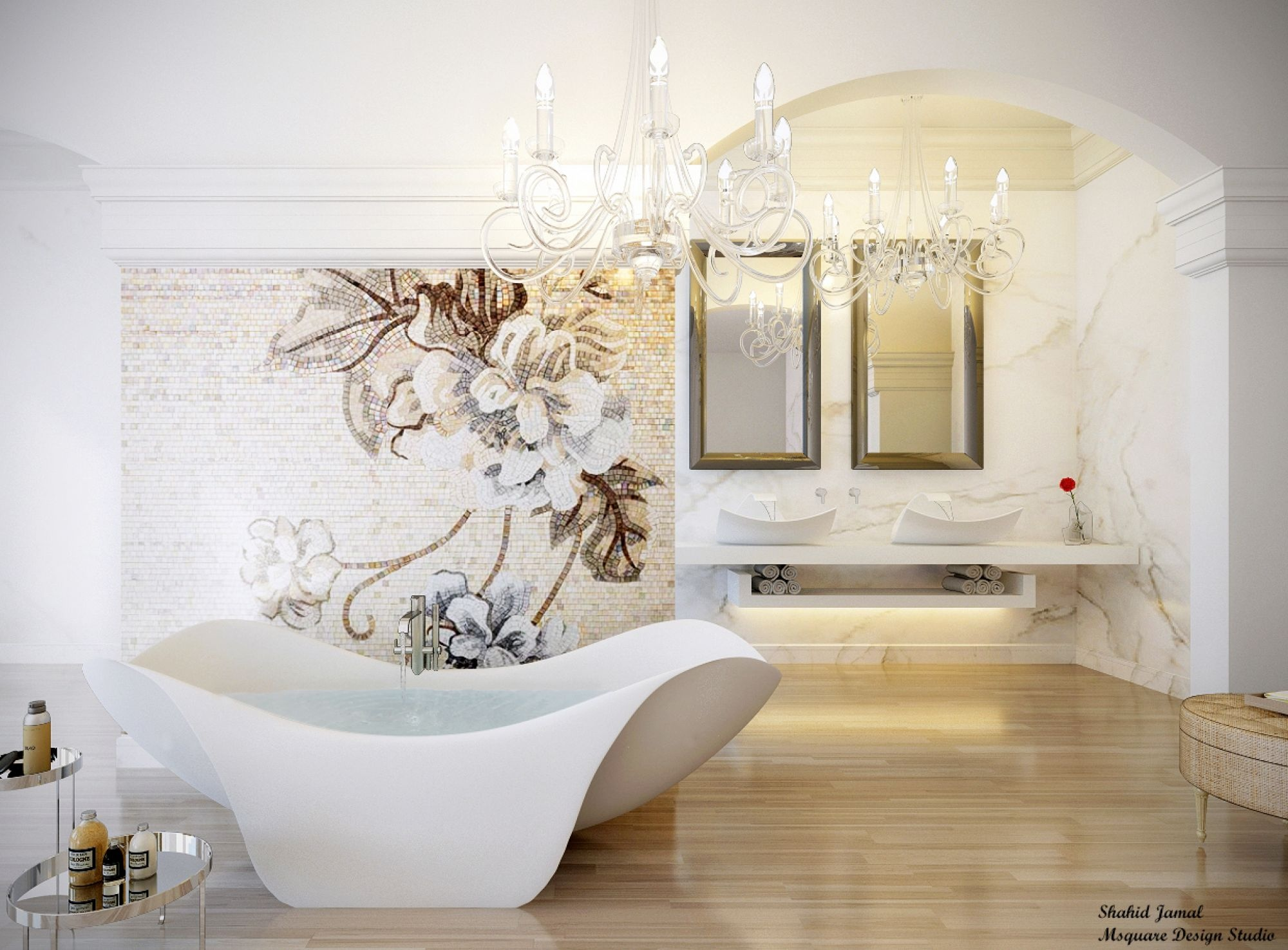 Ultra luxury bathroom inspiration for Salle de bain blanche moderne
