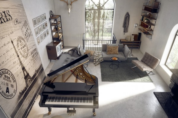 And sometimes decadence is the name of the game. Most of us will never have a grand piano, but if you do you should certainly make it a focal point of a room like it is here, with small, subtle furnishings sinking into the background.