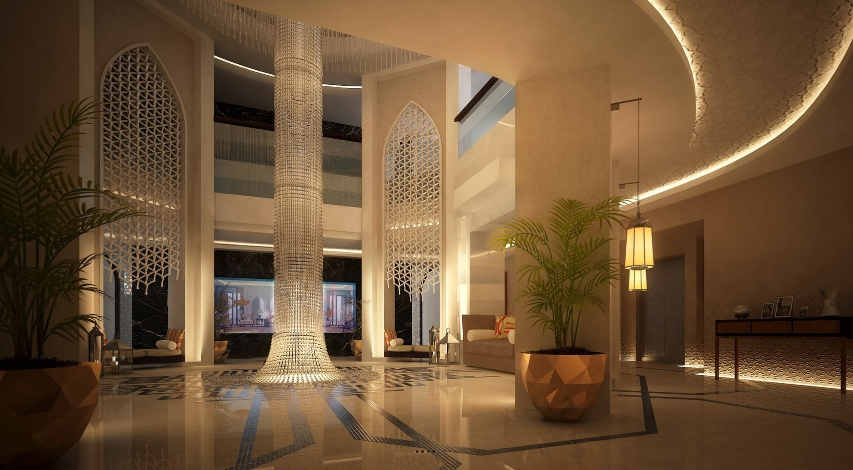 Luxury mansion design interior design ideas for Moroccan house design