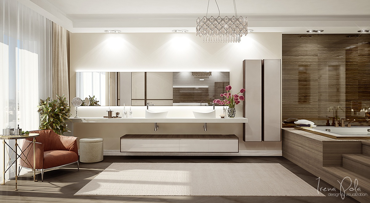 Modern Bathroom Clean - Super luxurious apartment in kiev ukraine