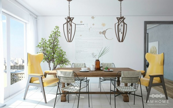 A sunny dining terrace serves more than one purpose as well.