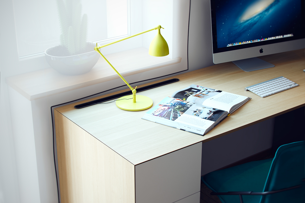 Modern Desk Lamp - Creative bedrooms that any teenager will love