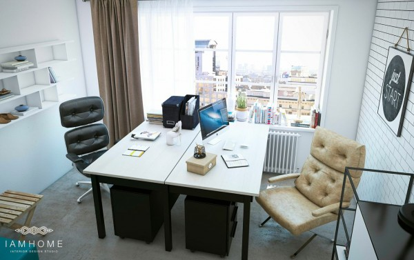 Spacious desks with comfortable but stylish office chairs create just that area.