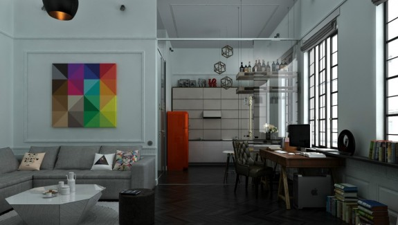 3 Distinctly Themed Apartments Under 800 Square Feet (~75 square meter) with Floor plans