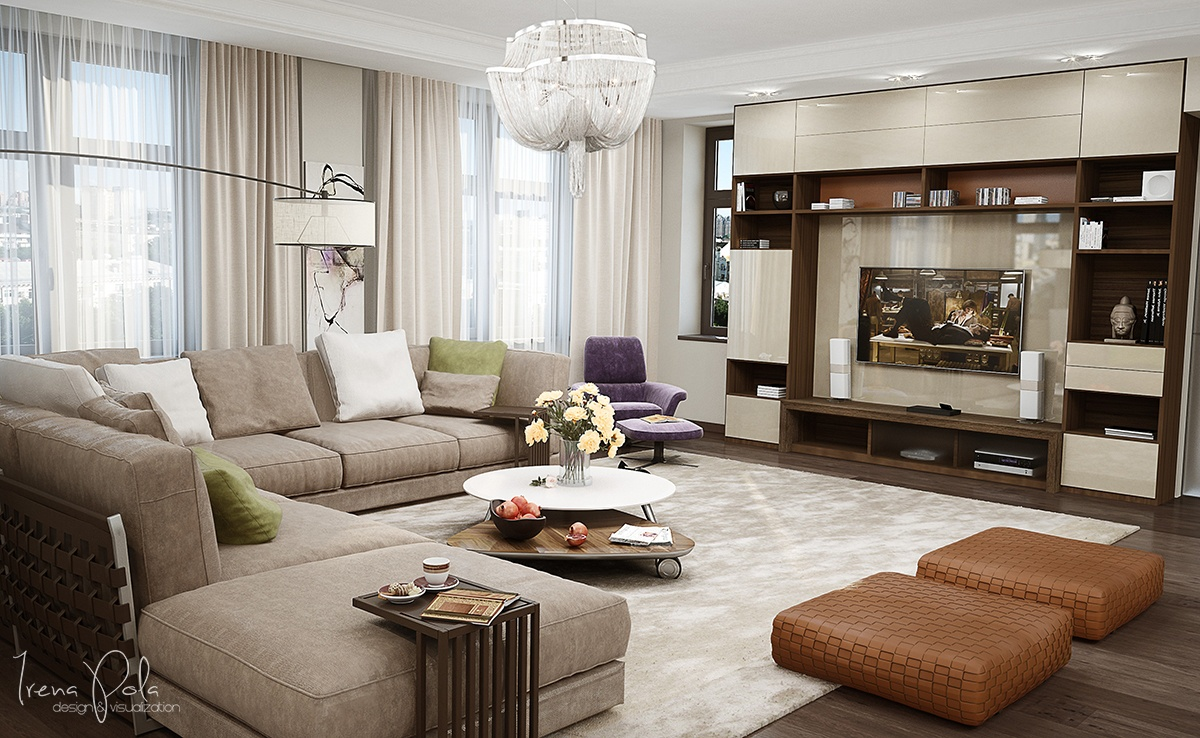 Modern Sectional Sofa - Super luxurious apartment in kiev ukraine