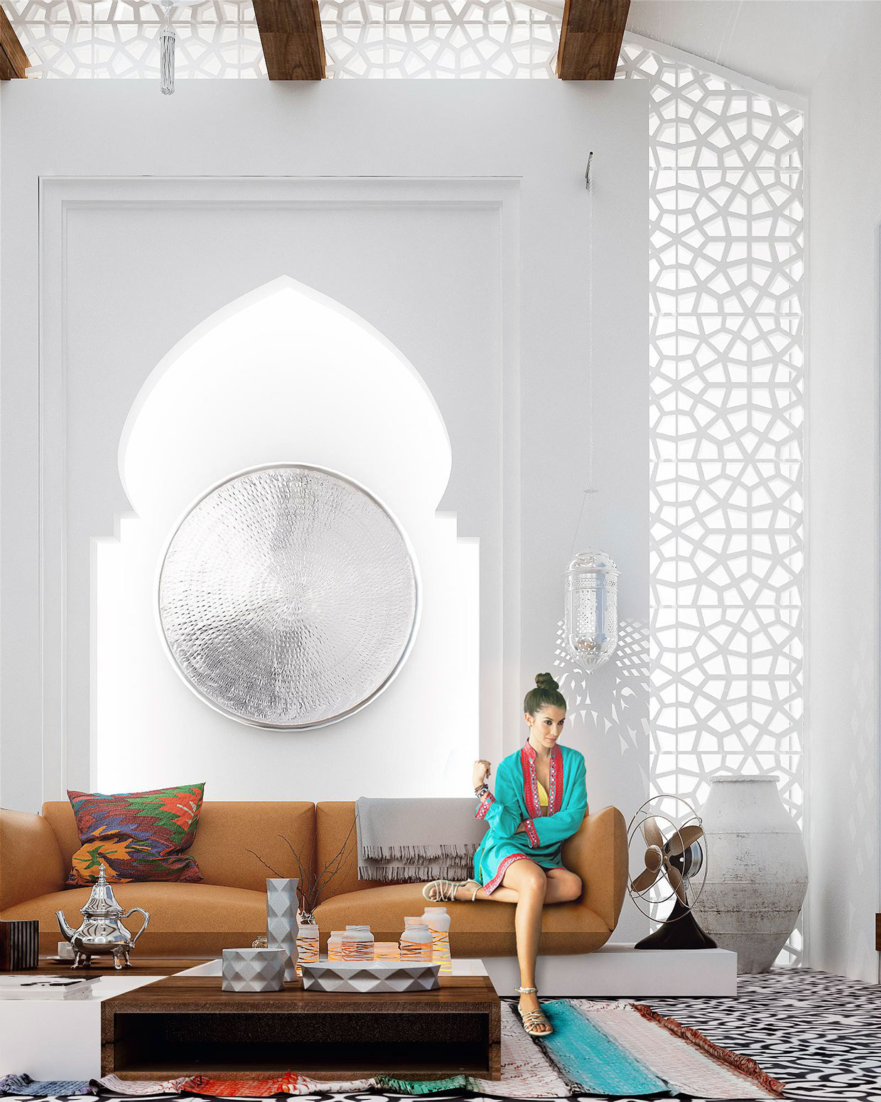 Moroccan style interior design for Moroccan living room decor ideas