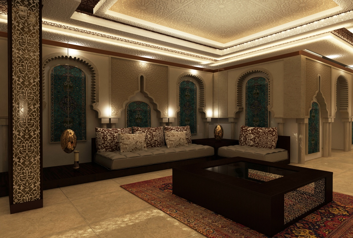 Moroccan sitting room interior design ideas for Room decoration design