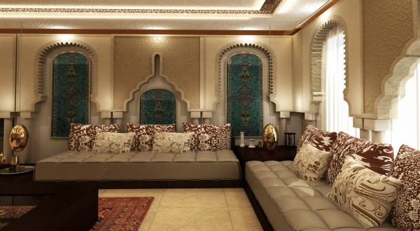 The Elaborate Archways In This Room Defy Categorization But Are Clearly Moroccan Inspired With