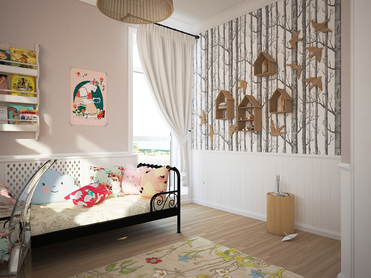 Cute kids rooms by fajno design Wallpaper for childrens room