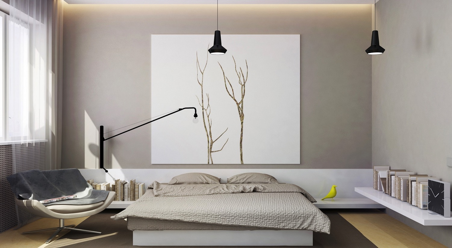 . 21 Cool Bedrooms for Clean and Simple Design Inspiration