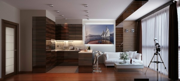 The second apartment featured is from designer Artem Yevstigneev.