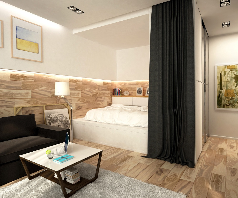 simple super beautiful studio apartment concepts for a young couple