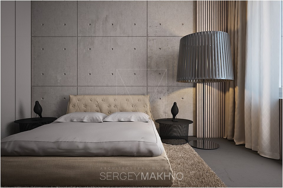 Platform Bed - Kiev apartment showcases sleek design with surprising playful elements