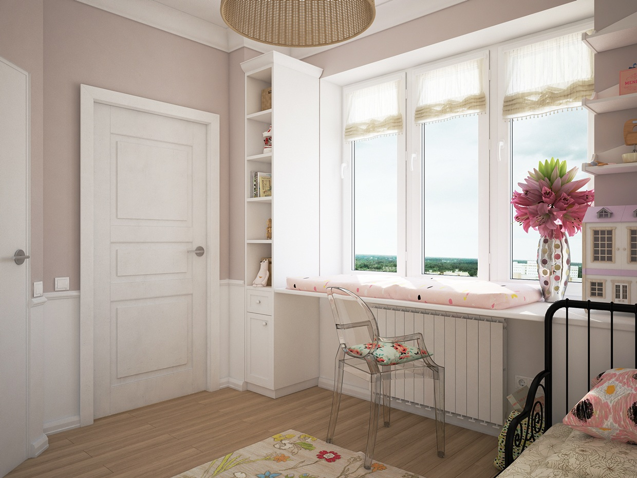 Pretty Pink Girls Room - Cute kids rooms by fajno design