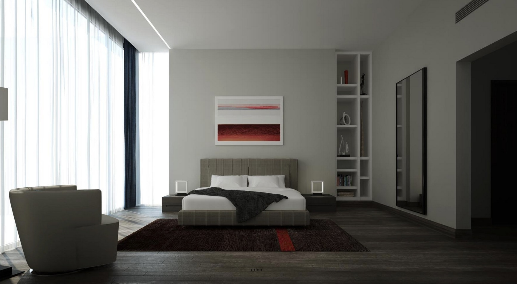 21 cool bedrooms for clean and simple design inspiration for Interior design for bedroom red