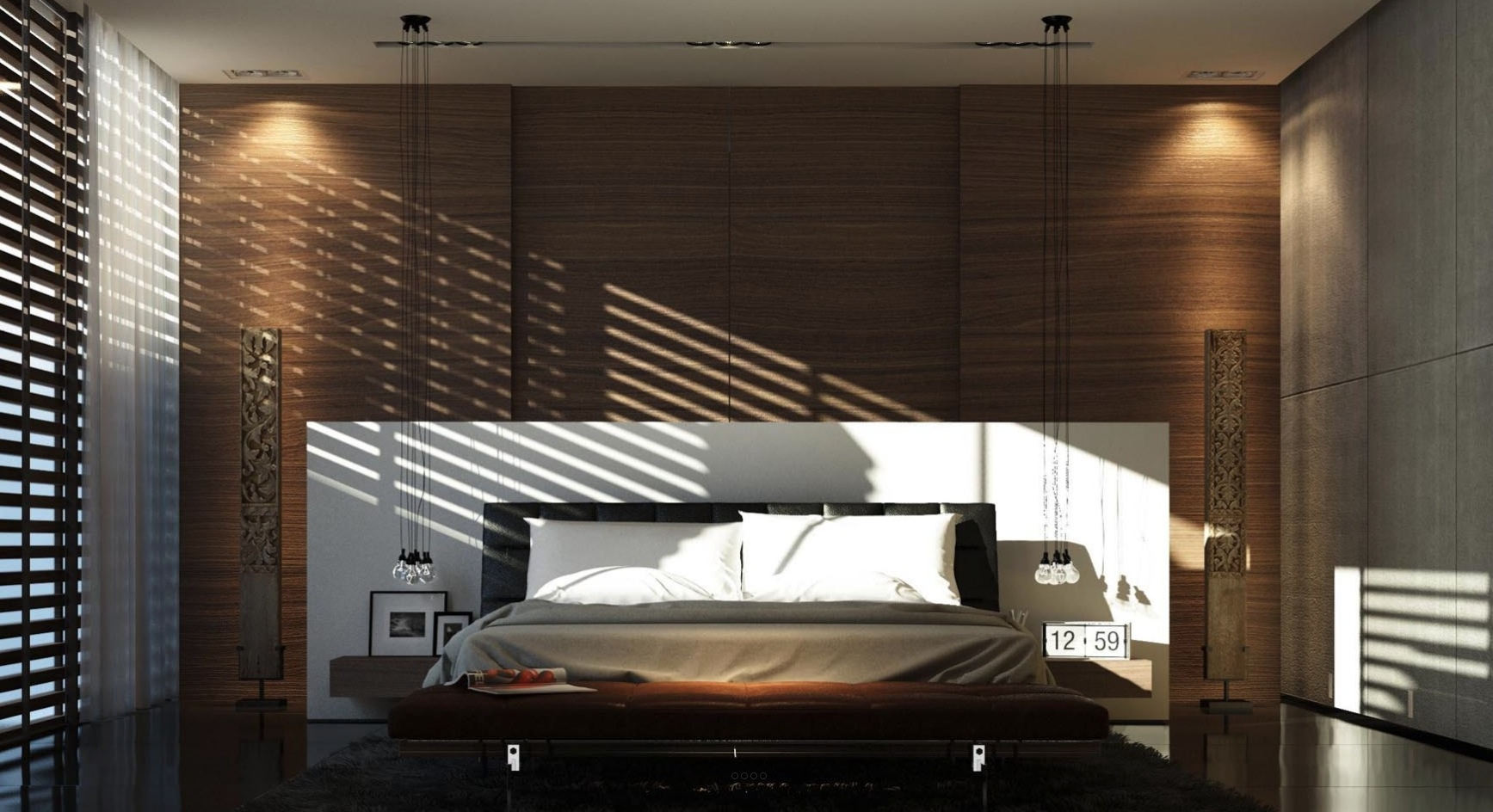 21 cool bedrooms for clean and simple design inspiration for Bedroom mural designs